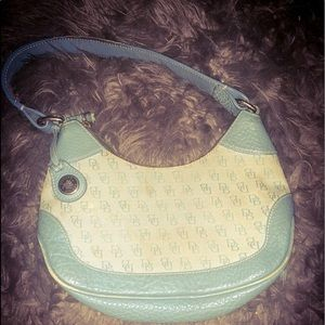 Dooney & Bourke Monogramed Light Blue Purse VTG